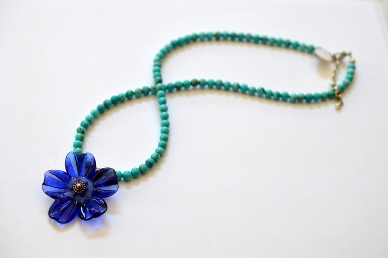 Turquoise and Purple Flower