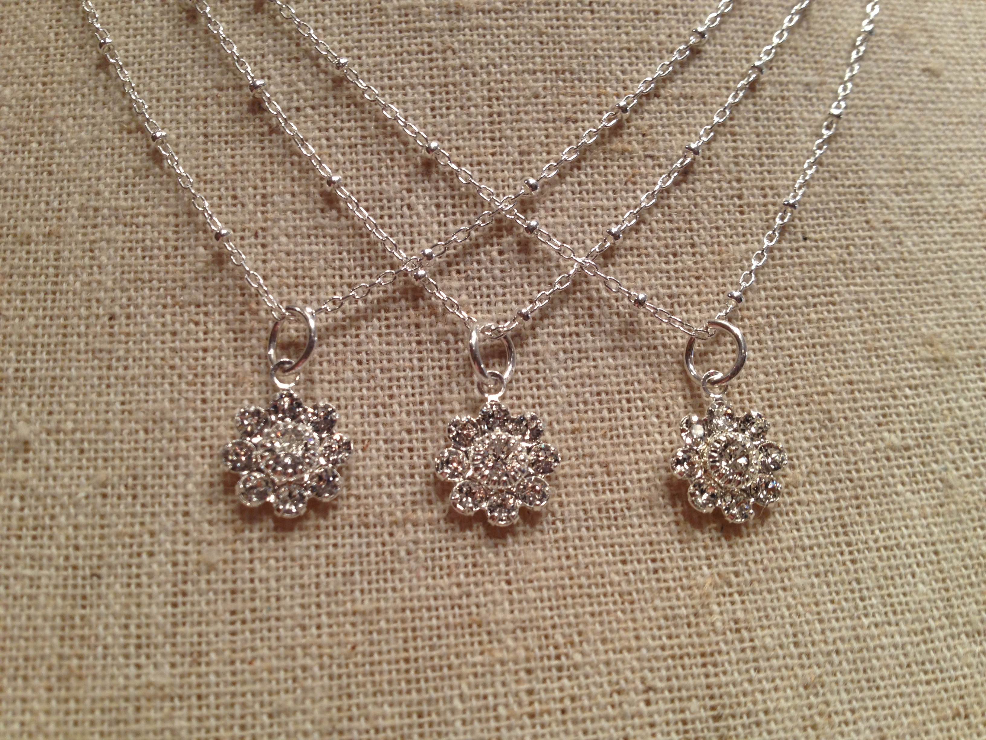 Crystal Daisy Necklace