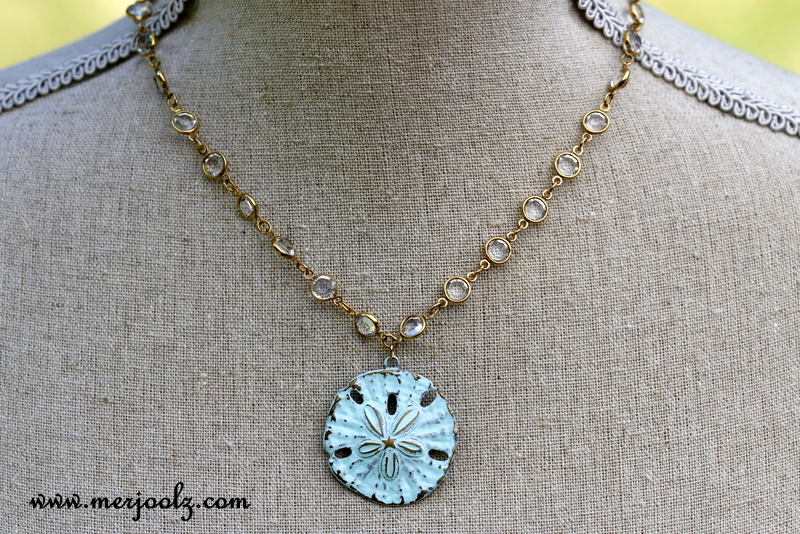 Marine Patina Starfish Necklace